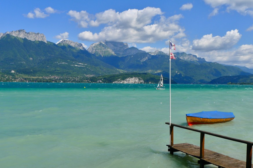 Lac d Annecy - Pontons prives