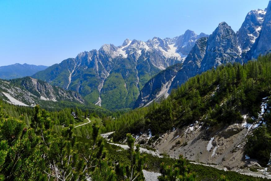 Vue du col de Vrsic - Slovenie
