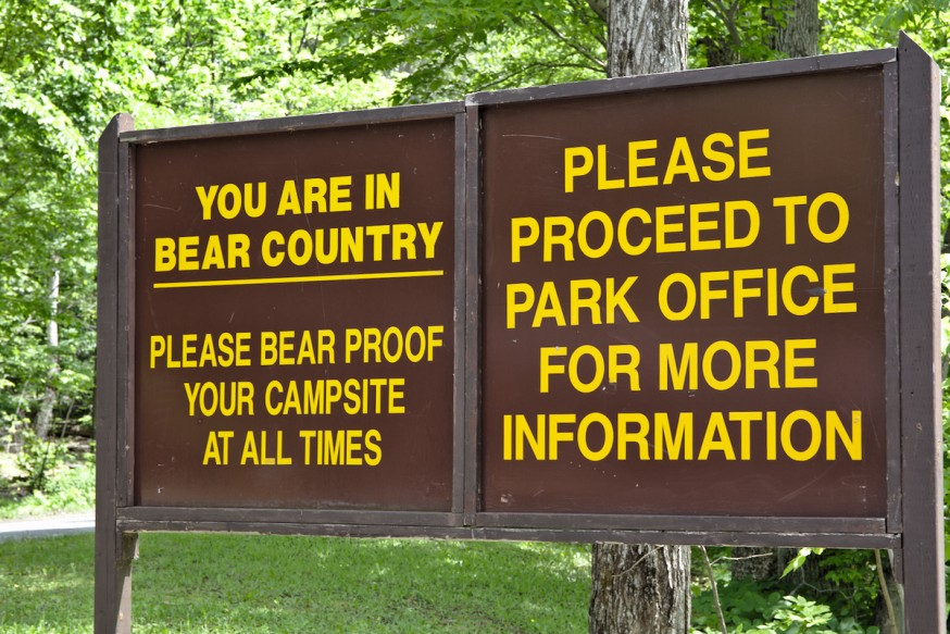 Attention aux ours - Killbear Provincial Park